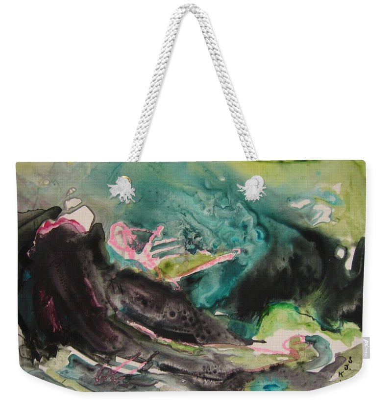 Abstract Paintings Weekender Tote Bag featuring the painting Color Fever Series009 by Seon-Jeong Kim