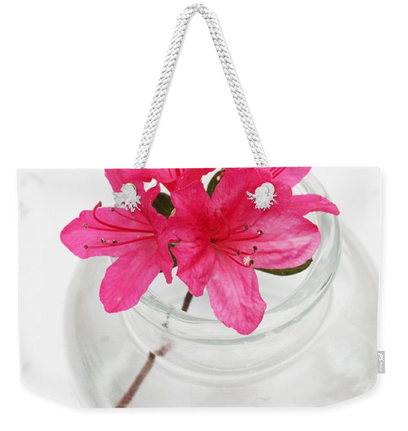 Azalea Weekender Tote Bag featuring the photograph Color Full Of Life by Amanda Barcon