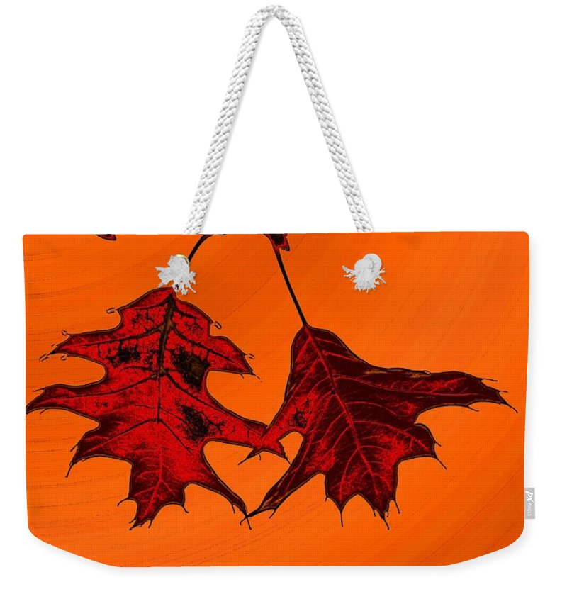 Autumn Weekender Tote Bag featuring the digital art Color Me Autumn 2 by Tim Allen
