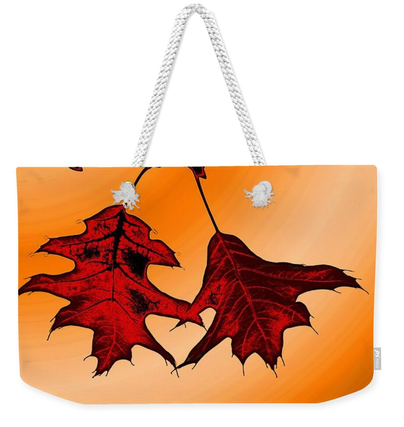 Autumn Weekender Tote Bag featuring the digital art Color Me Autumn 3 by Tim Allen