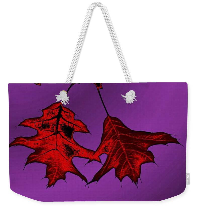 Autumn Weekender Tote Bag featuring the digital art Color Me Autumn by Tim Allen