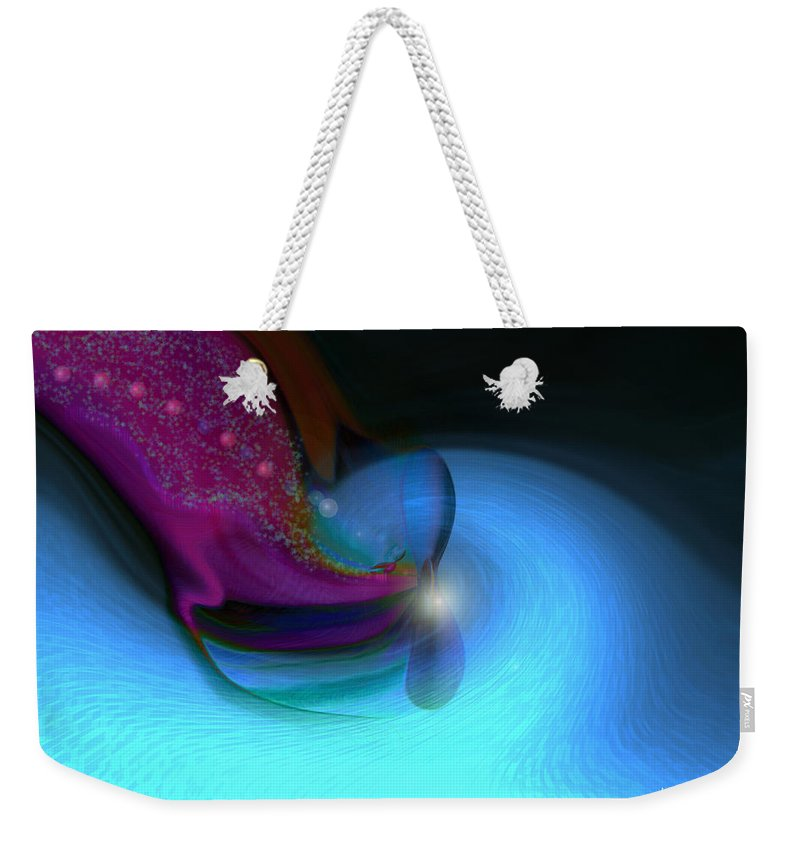 Abstract Art Weekender Tote Bag featuring the digital art Color Movements by Linda Sannuti