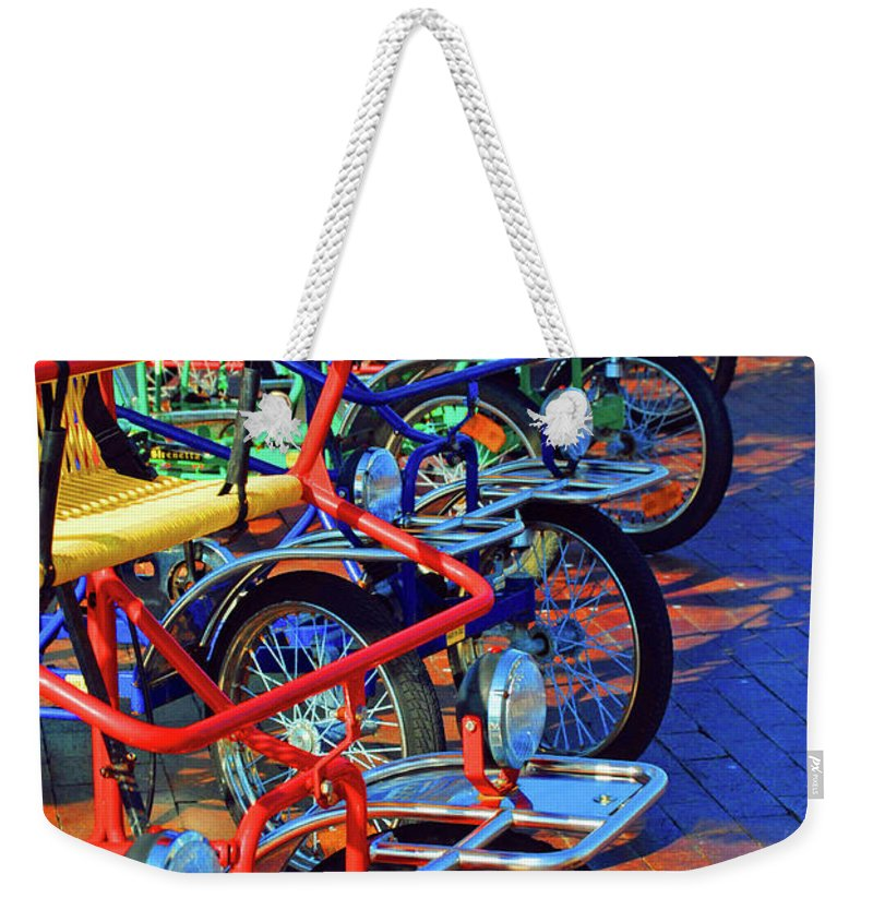 Bikes Weekender Tote Bag featuring the photograph Color Of Bikes by Jost Houk