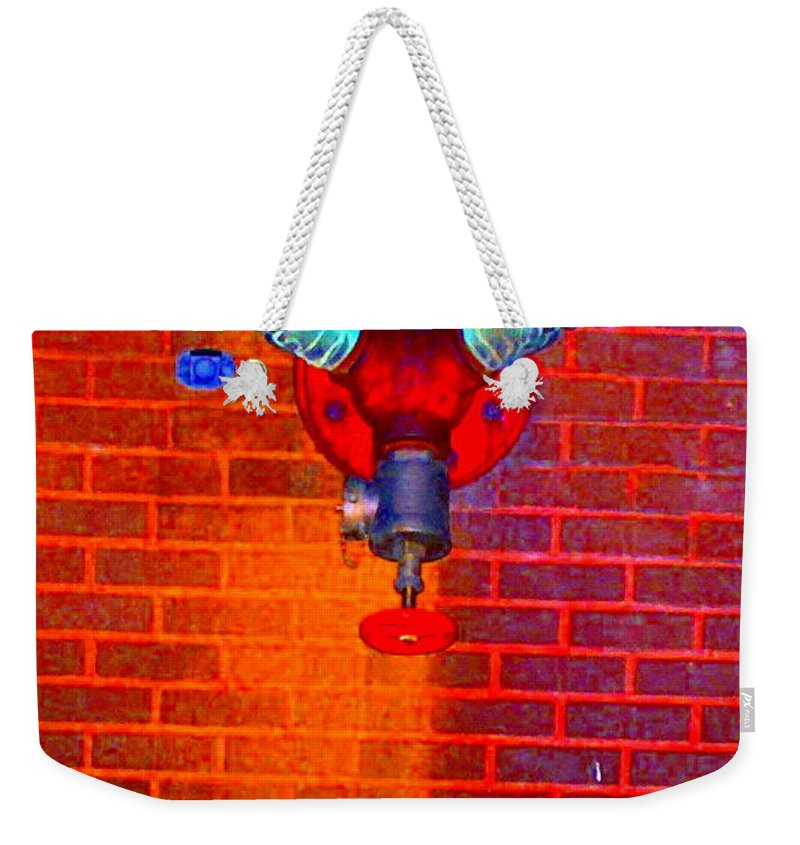 Color Photograph Weekender Tote Bag featuring the photograph Color Pipe by Thomas Valentine