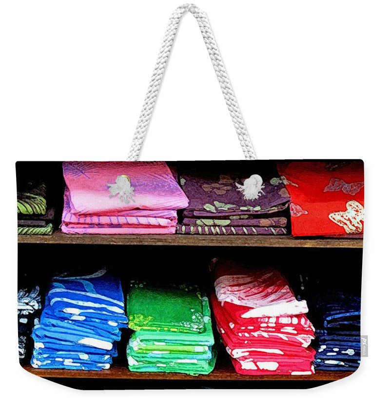Batik Weekender Tote Bag featuring the photograph Color Rules by Ian MacDonald