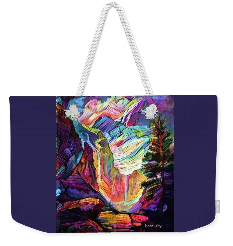 Mountains Weekender Tote Bag featuring the digital art Colorado Abstract by Donn Kay
