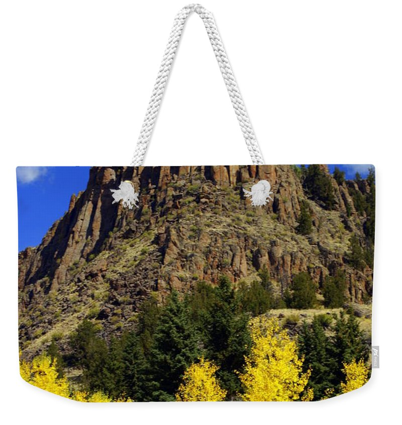 Colorado Weekender Tote Bag featuring the photograph Colorado Butte by Marty Koch
