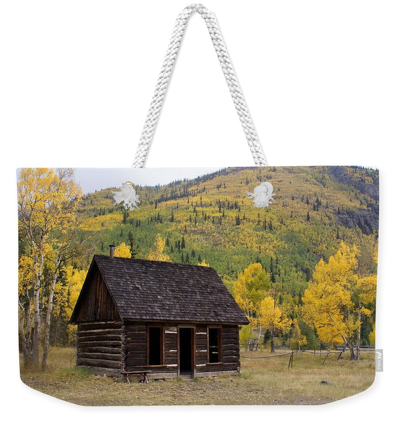 Mountain Weekender Tote Bag featuring the photograph Colorado Cabin by Marty Koch