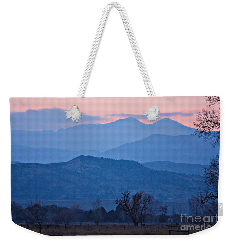Boulder Weekender Tote Bag featuring the photograph Colorado Country - Boulder County by James BO Insogna