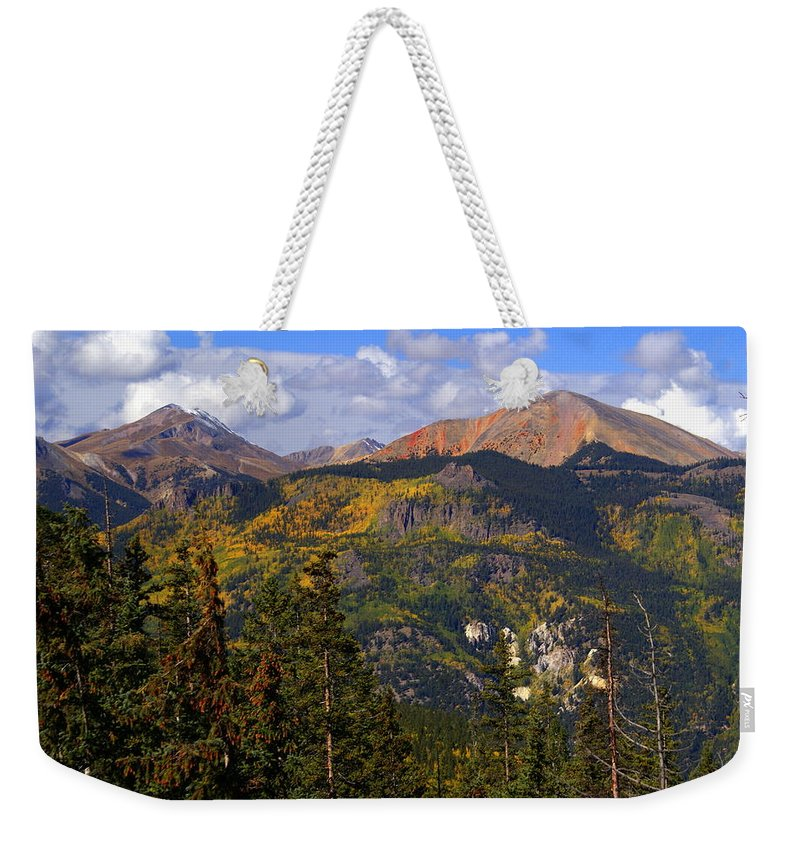 Mountain Weekender Tote Bag featuring the photograph Colorado Fall by Marty Koch