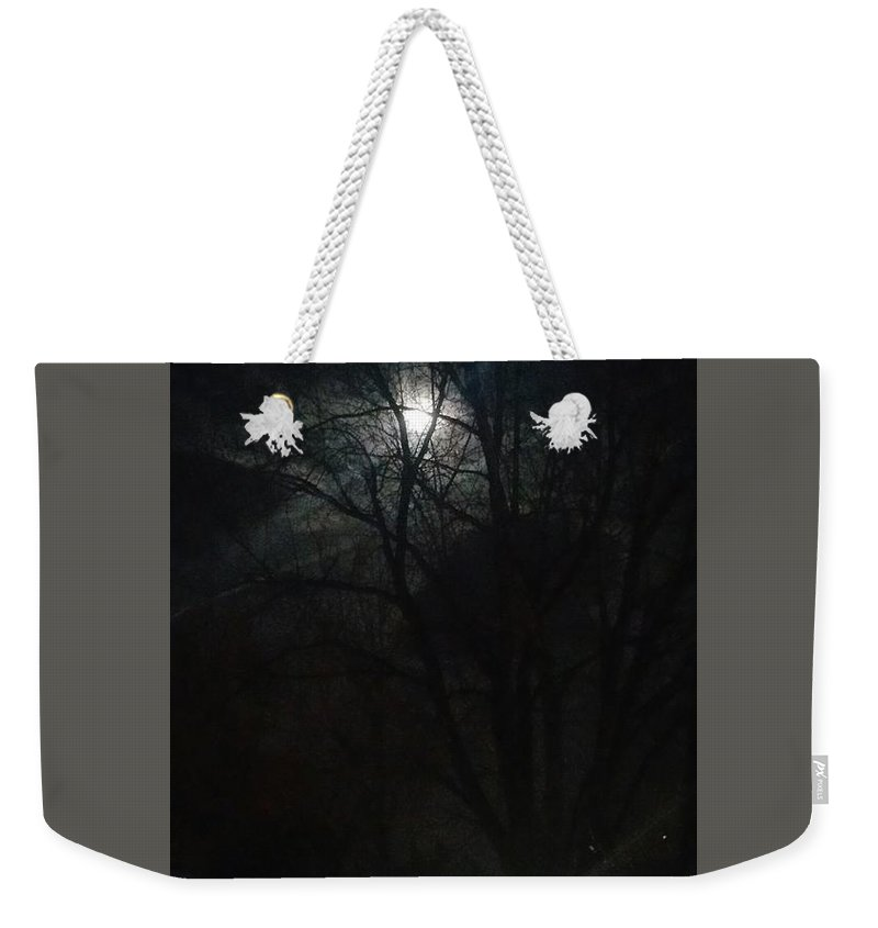 Evening Weekender Tote Bag featuring the photograph Colorado Full Moon by Susan Brown