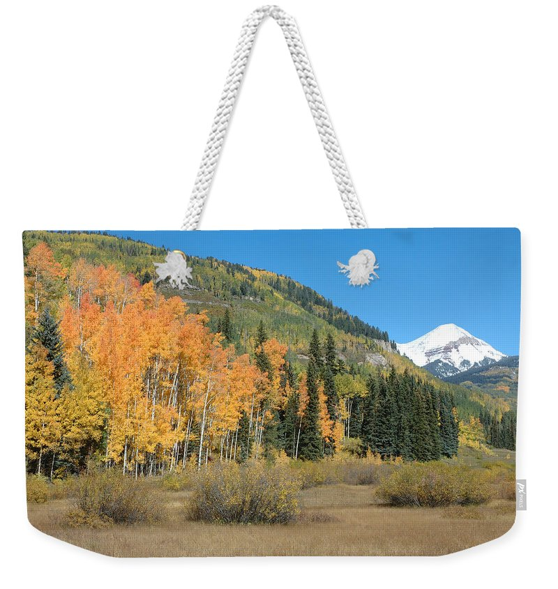 Aspen Weekender Tote Bag featuring the photograph Colorado Gold by Jerry McElroy