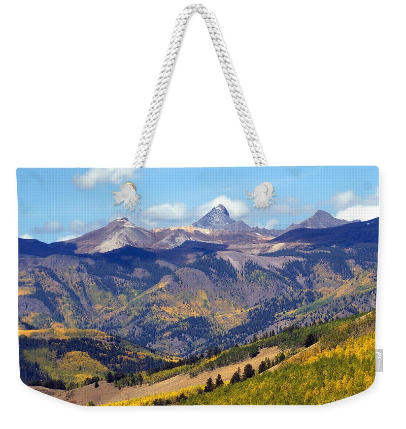 Mountains Weekender Tote Bag featuring the photograph Colorado Mountains 1 by Marty Koch