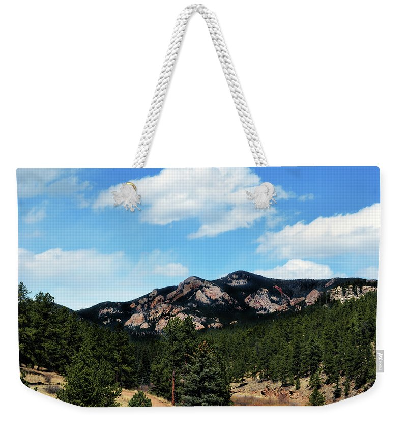Colorado Weekender Tote Bag featuring the photograph Colorado Mountains by Angelina Tamez