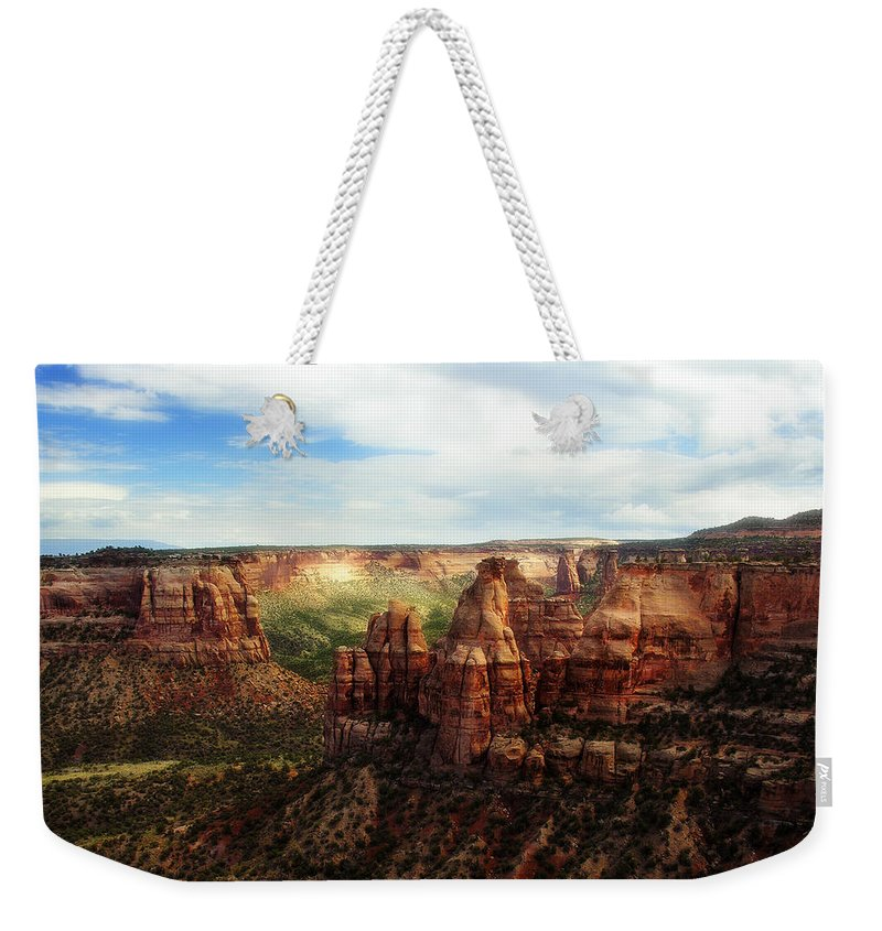 Americana Weekender Tote Bag featuring the photograph Colorado National Monument by Marilyn Hunt