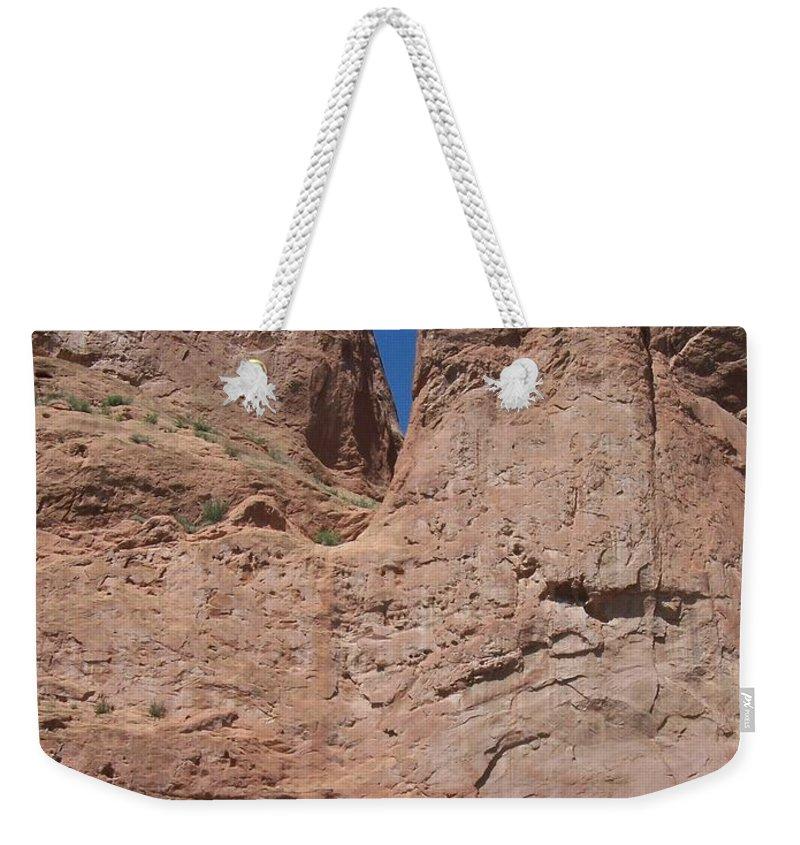 Colorado Weekender Tote Bag featuring the photograph Colorado Redrock by Anita Burgermeister