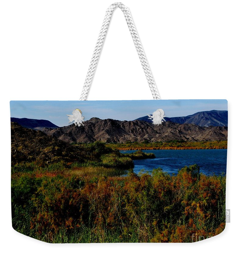 Patzer Weekender Tote Bag featuring the photograph Colorado River by Greg Patzer