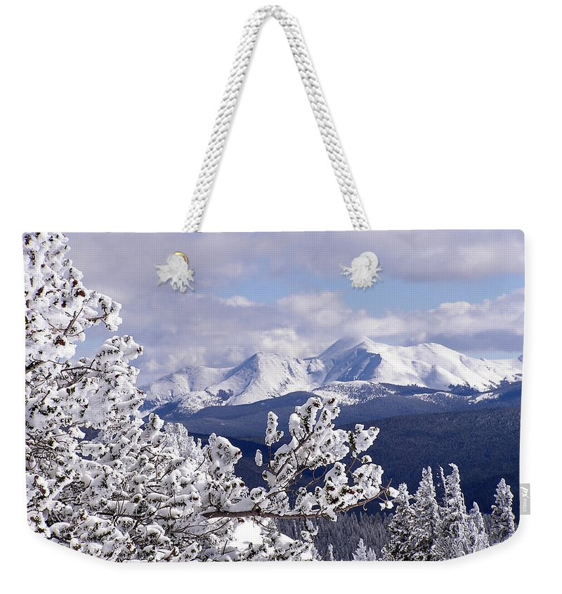 Mountains Weekender Tote Bag featuring the photograph Colorado Sawatch Mountain Range by Carol Milisen