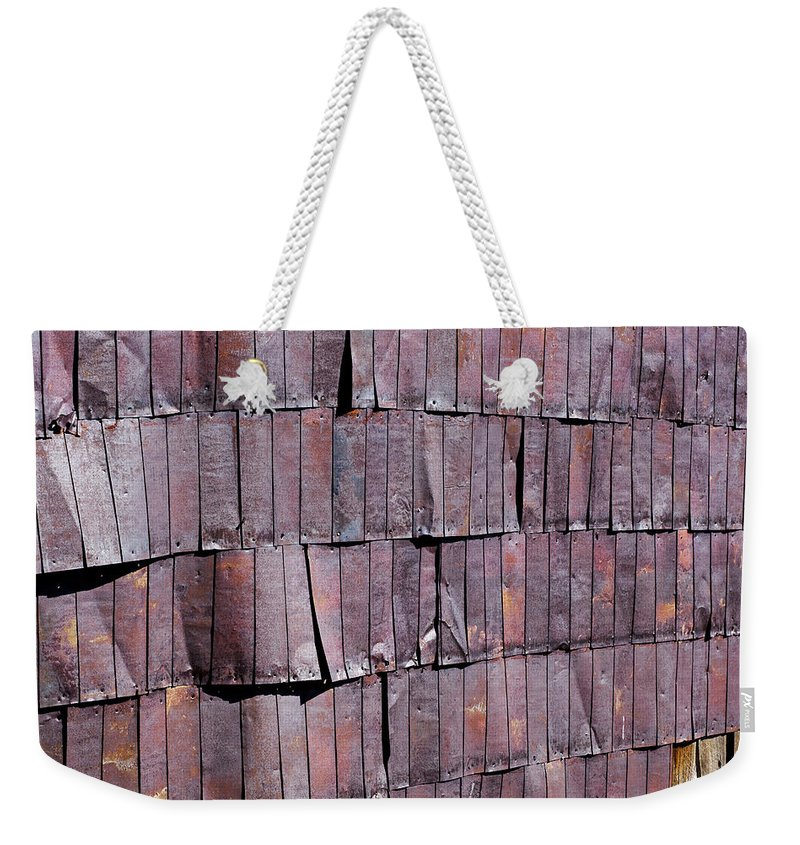 Tin Weekender Tote Bag featuring the photograph Colorful Armor by Kelley King