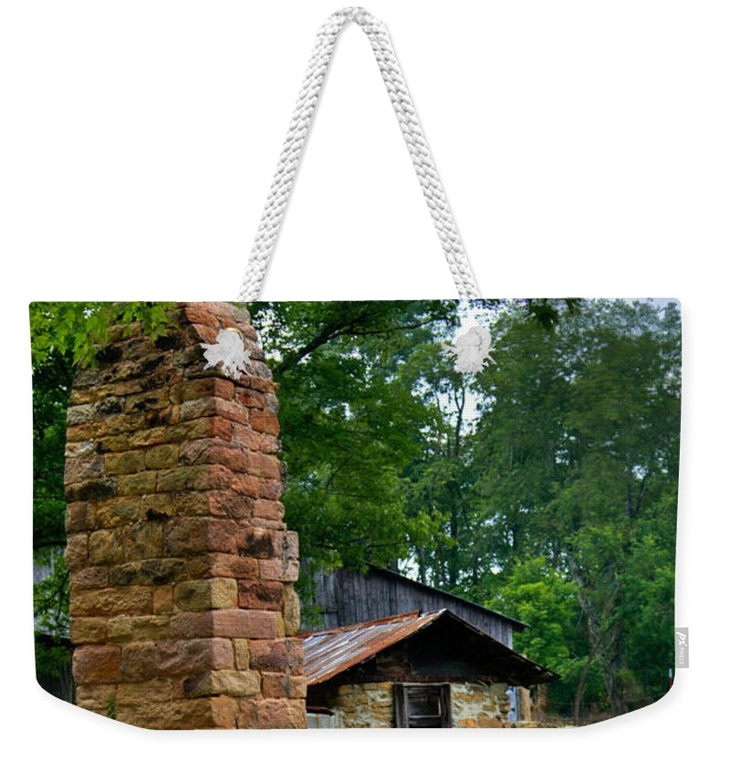 Chimney Weekender Tote Bag featuring the photograph Colorful Chimney by Douglas Barnett