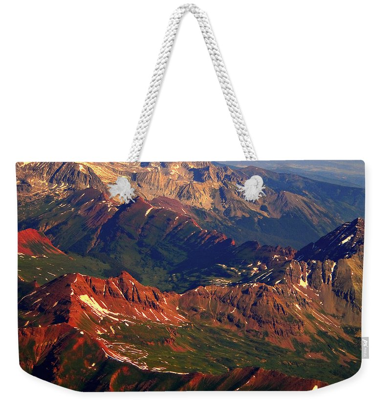 Colorful Weekender Tote Bag featuring the photograph Colorful Colorado Planet Earth by James BO Insogna