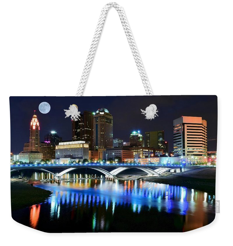 Columbus Weekender Tote Bag featuring the photograph Colorful Columbus by Frozen in Time Fine Art Photography