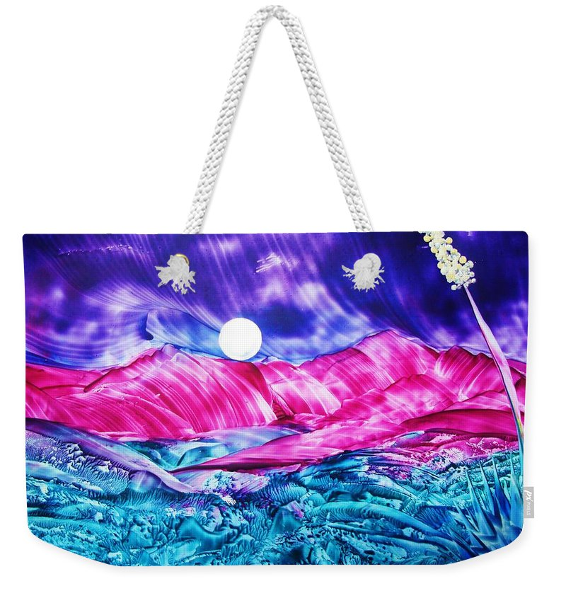 Bold Weekender Tote Bag featuring the print Colorful Desert by Melinda Etzold