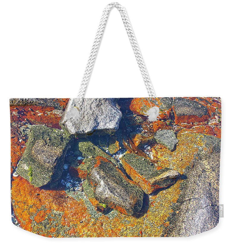 Decorative Weekender Tote Bag featuring the photograph Colorful Earth History by Heiko Koehrer-Wagner