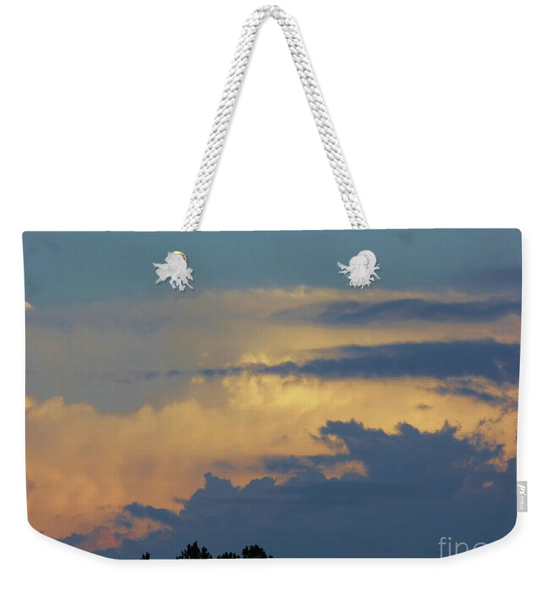 Sunset Weekender Tote Bag featuring the photograph Colorful Evening Sky by D Hackett
