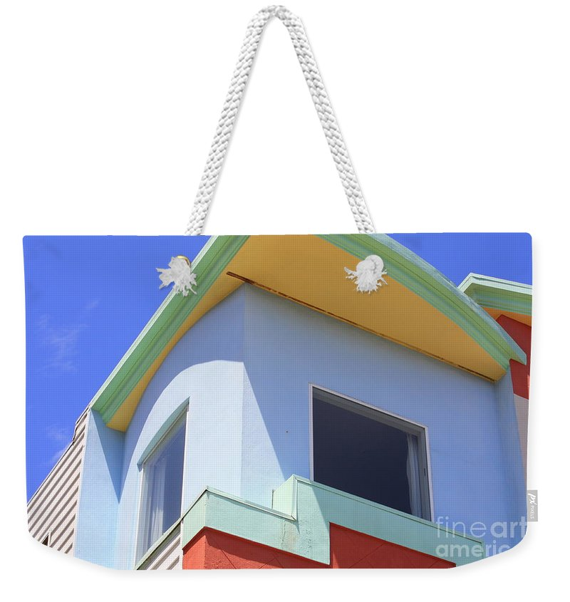 San Franciso Weekender Tote Bag featuring the photograph Colorful House In San Francisco by Carol Groenen