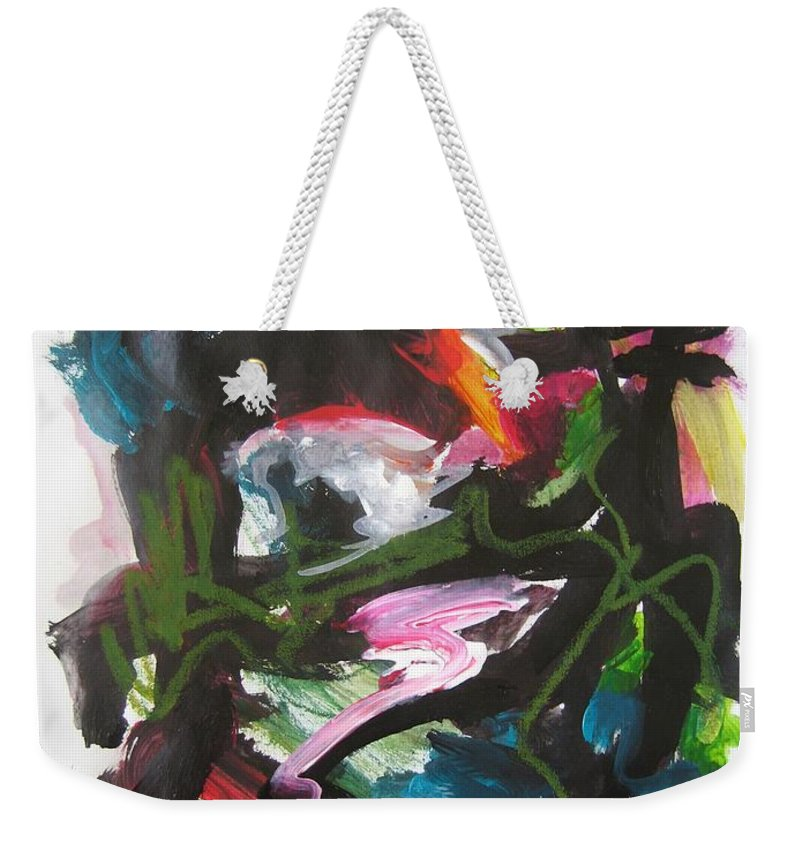 Abstract Paintings Weekender Tote Bag featuring the painting Colorful Landscape1125 by Seon-Jeong Kim
