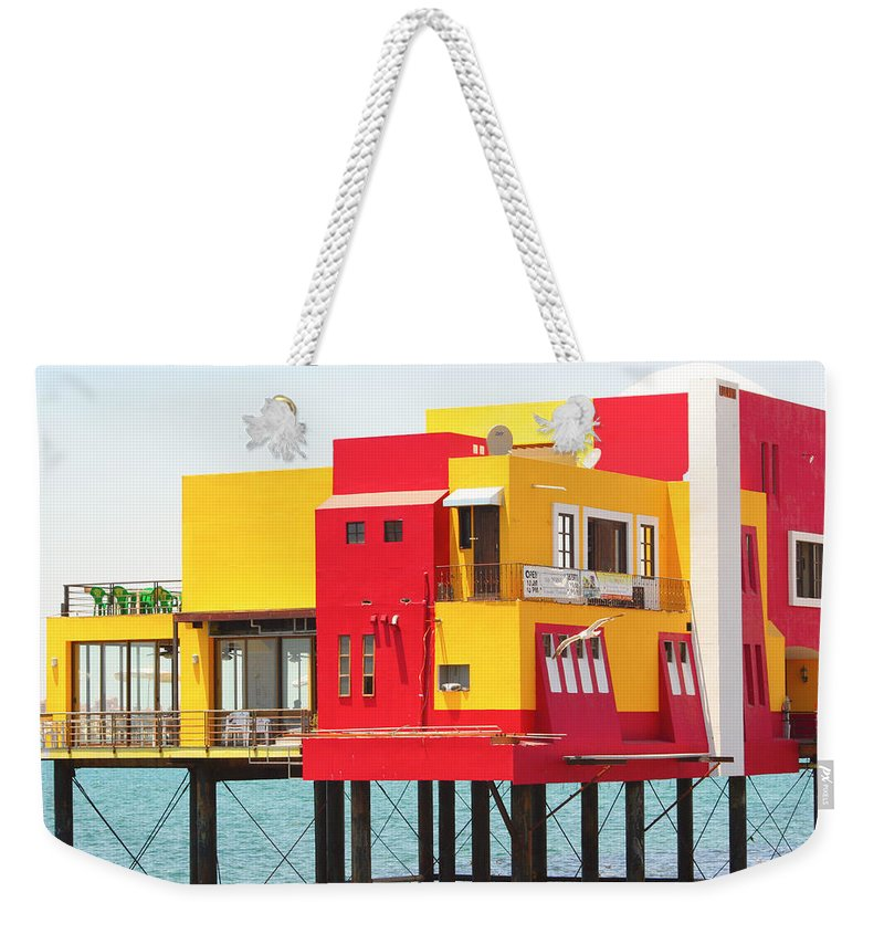 Colorful; Building; Mexico; Architecture; Sea; Ocean; Landscape Weekender Tote Bag featuring the photograph Colorful Mexico by James BO Insogna
