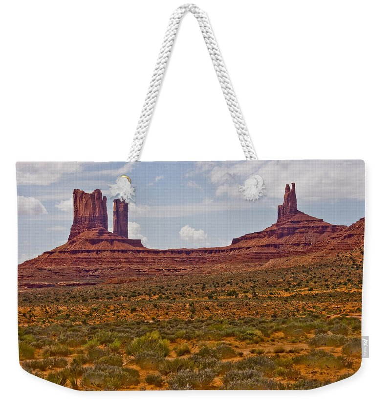Monument Valley Weekender Tote Bag featuring the photograph Colorful Monument Valley by James BO Insogna