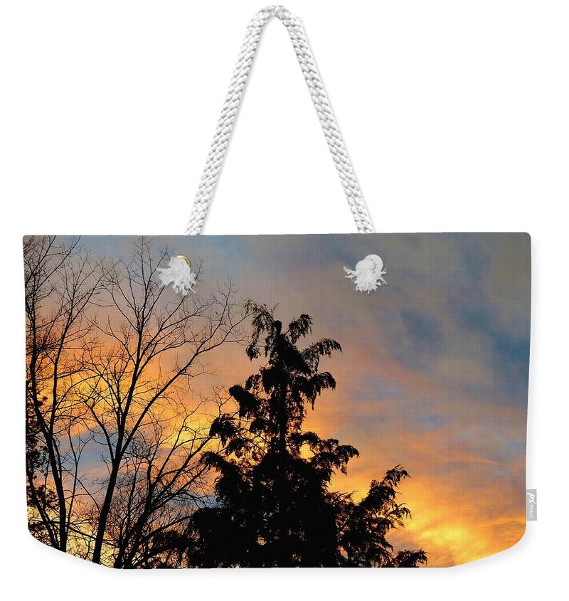 Sunset Weekender Tote Bag featuring the photograph Colorful Nightfall by Will Borden