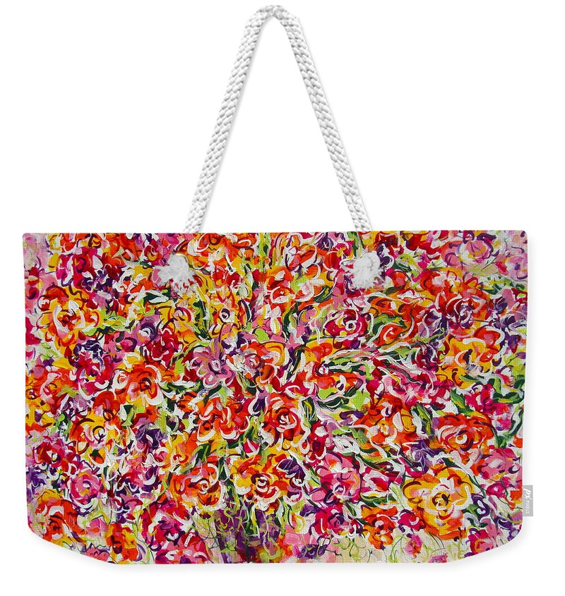 Framed Prints Weekender Tote Bag featuring the painting Colorful Organza by Natalie Holland