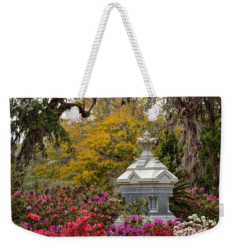 Cemetery Weekender Tote Bag featuring the photograph Colorful Rest by Jeffrey Schreier