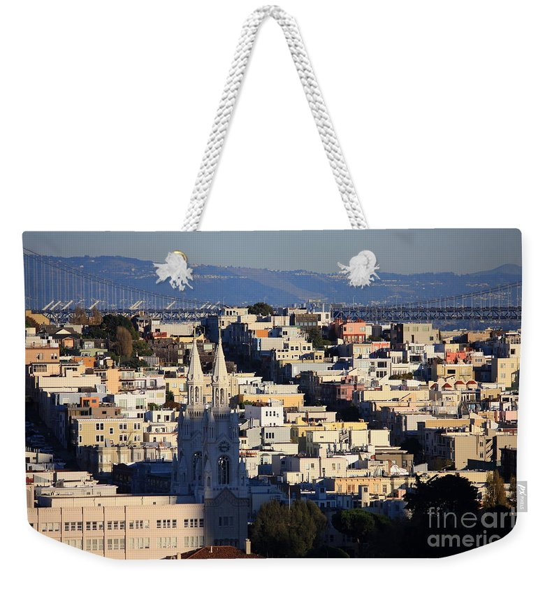 San Francisco Weekender Tote Bag featuring the photograph Colorful San Francisco by Carol Groenen