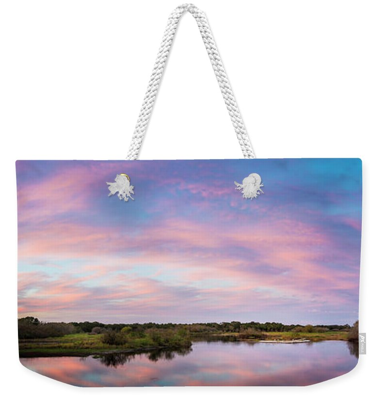 Florida Weekender Tote Bag featuring the photograph Colorful Sky by Marvin Spates