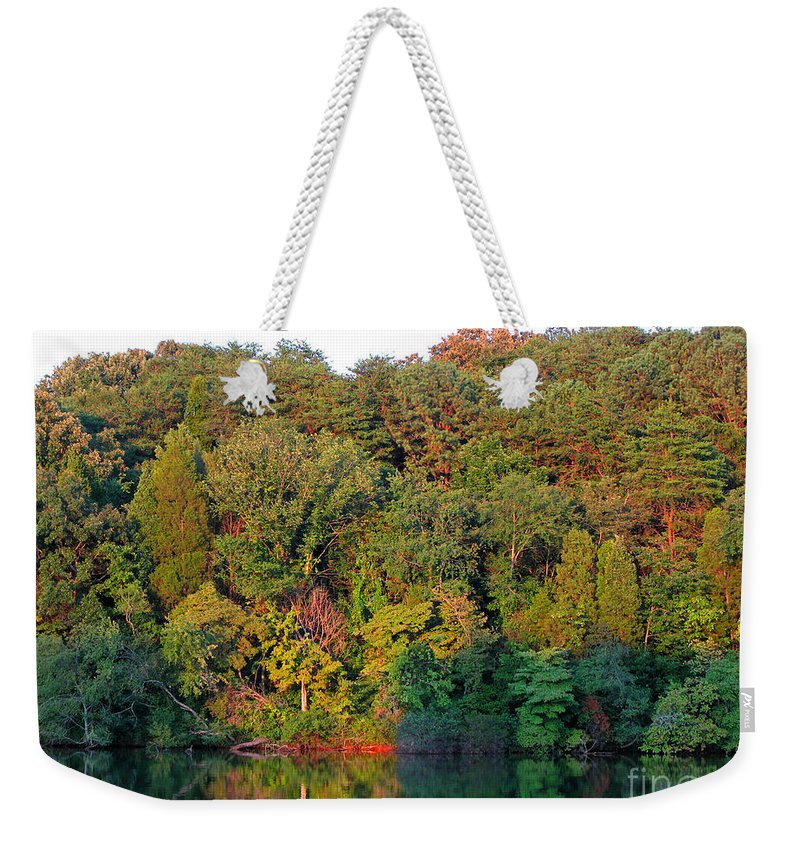 Landscape Weekender Tote Bag featuring the photograph Colorful Sunset by Todd A Blanchard