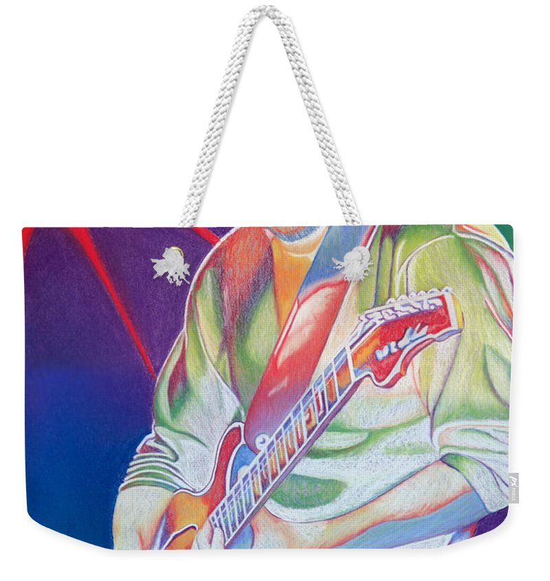 Phish Weekender Tote Bag featuring the drawing Colorful Trey Anastasio by Joshua Morton