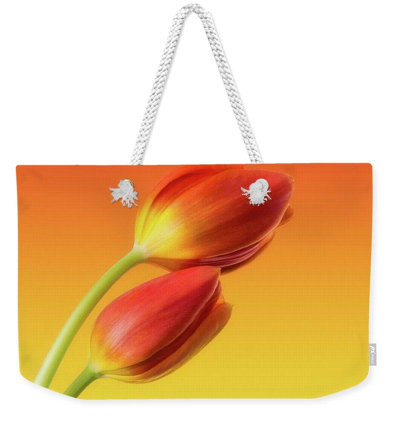 Flower Weekender Tote Bags