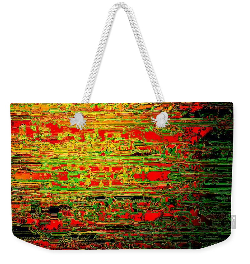 Colorisentenz Weekender Tote Bag featuring the digital art Colorisentences by Helmut Rottler