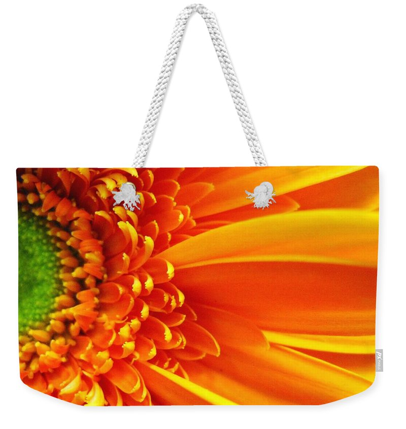 Red Weekender Tote Bag featuring the photograph Colors Galore by Rhonda Barrett
