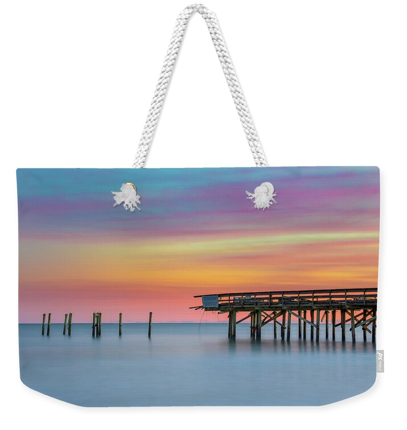 Myrtle Beach Weekender Tote Bag featuring the photograph Colors In Motion by Charles Lawhon