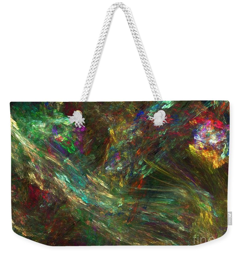 Fractals Weekender Tote Bag featuring the digital art Colors Of Light by Richard Rizzo