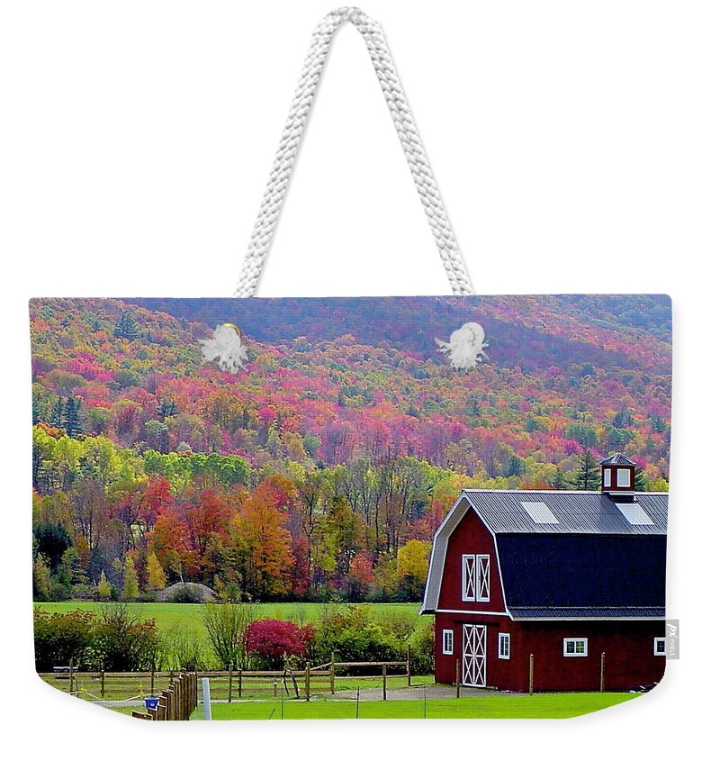 Fall Weekender Tote Bag featuring the photograph Colors Of New England by Rick Monyahan