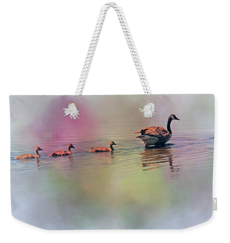 Recent Weekender Tote Bag featuring the photograph Colors Of The Rainbow by Geraldine Scull