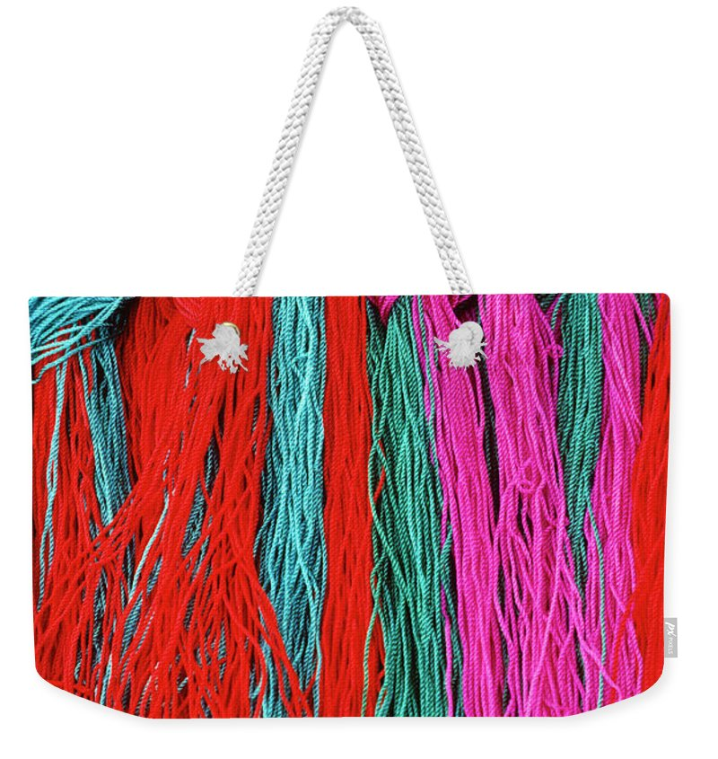 Tibet Weekender Tote Bag featuring the photograph Colors Of Tibet by Michele Burgess