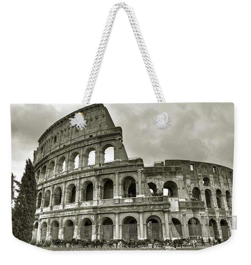 Colosseum Weekender Tote Bag featuring the photograph Colosseum Rome by Joana Kruse