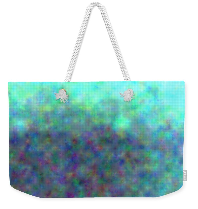 Art Weekender Tote Bag featuring the digital art colour impression 1-A rainy summers day by Alex Porter